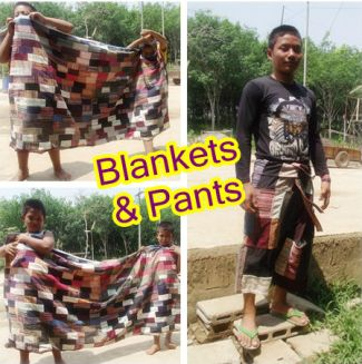 pants and blankets