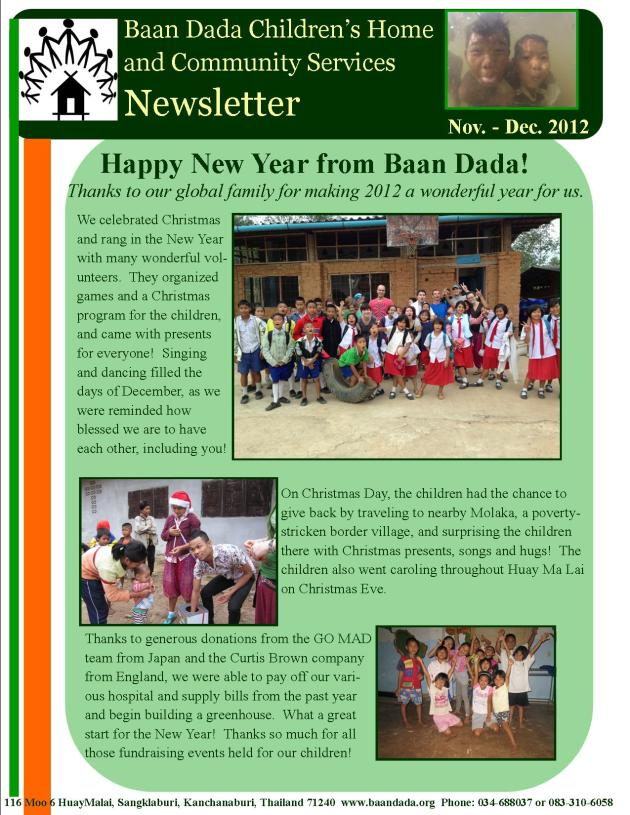 Nov Dec 2012 Newsletter