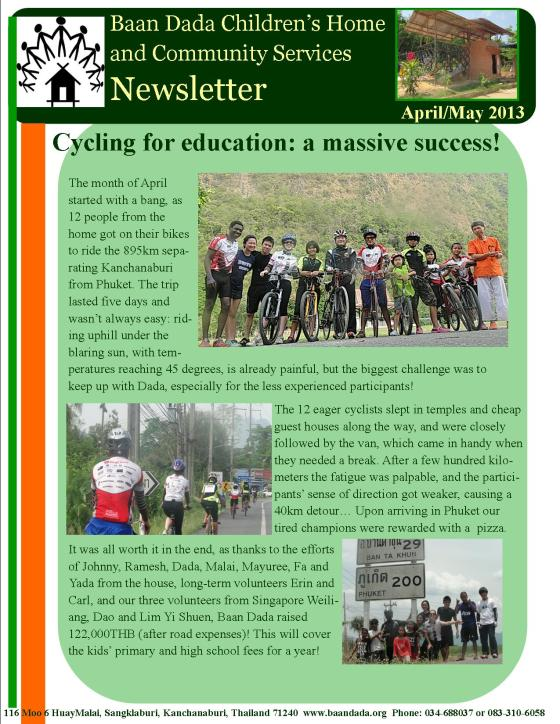 April May newsletter page1