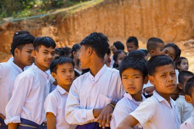 School children in burma 2