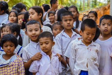 School children in burma